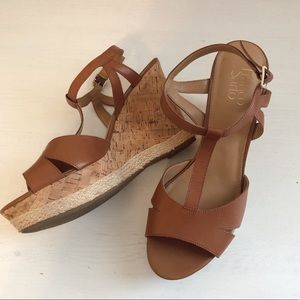Franco Sarto Brown Wedges Size 10